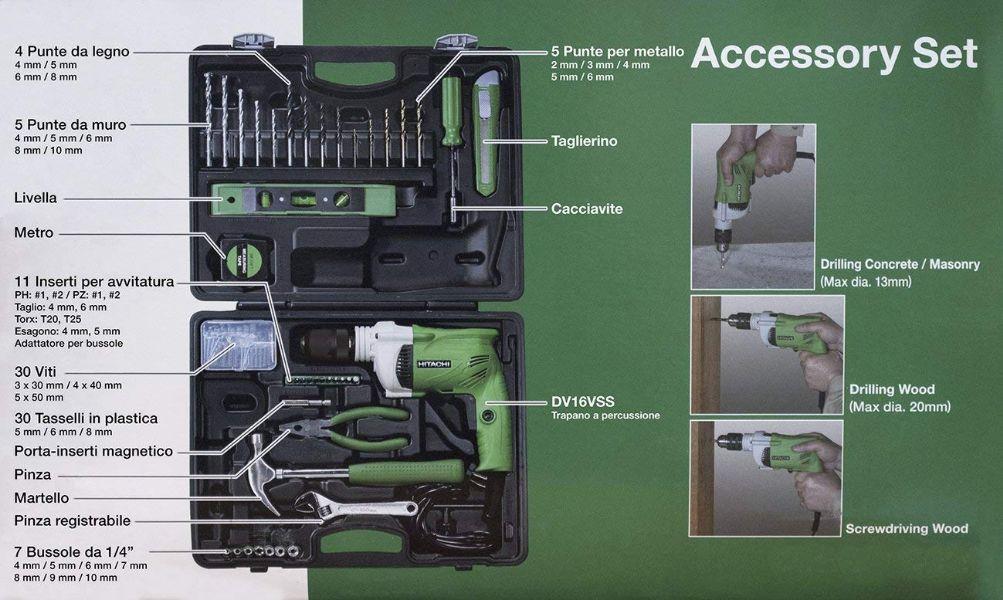 DV16VSS-Trapano-con-percussione-600-W-con-set-accessori